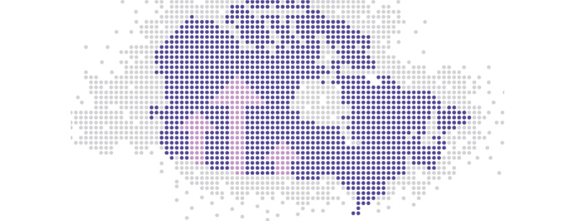 Pixelated map of Canada