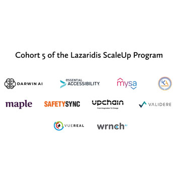 Laurier's Lazaridis Institute selects Canada's top 10 ScaleUp companies from a record number of applications