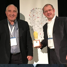 Oculys Health at the Interface Health Challenge: from left, Wilson Parasiuk, Chair, and Franck Hivert, CEO