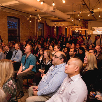 Lazaridis Institute hosted over 100 people at Startwell to celebrate the third cohort of the Lazaridis ScaleUp Program